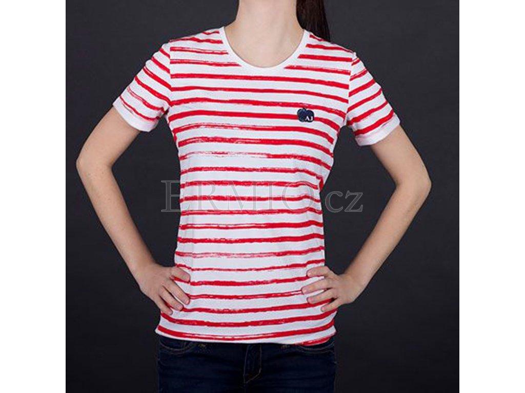 Půvabné dámské tričko Armani pruhované