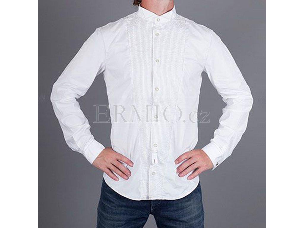 Luxusní Luxusní pánská bílá košile Armani v e-shopu   Ermio Fashion 3d3a8a114e