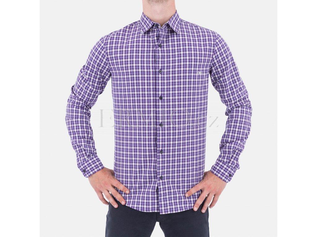 Pánská značková kostkovaná košile Armani