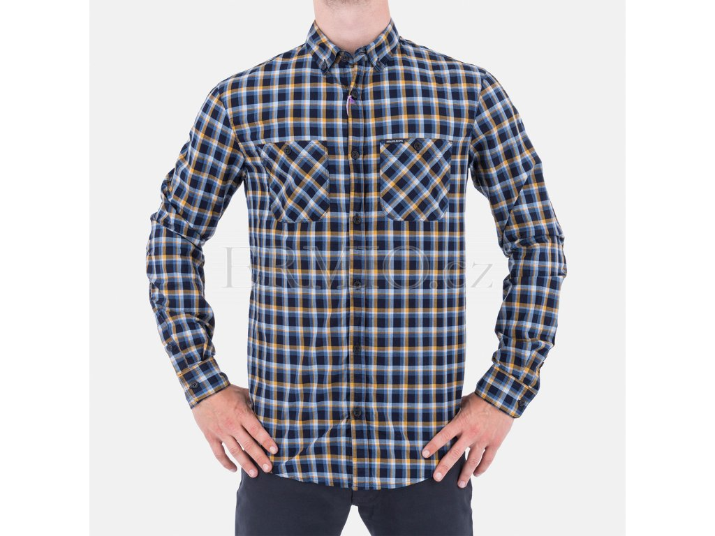 Luxusní pánská kostkovaná košile Armani