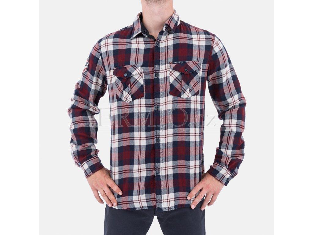 Luxusní Pánská flanelová košile Armani Jeans v e-shopu   Ermio Fashion 8396b4dc6c