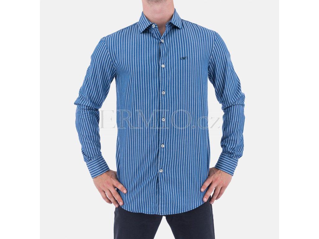 Značková pánská proužkovaná košile Armani