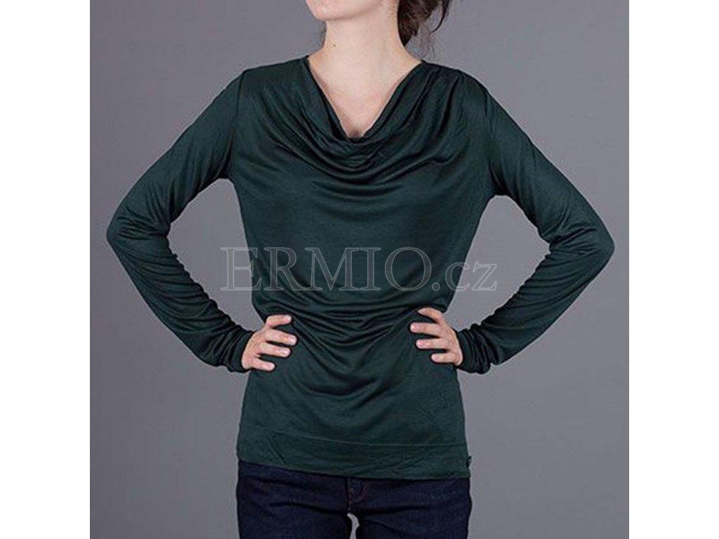 Půvabné zelené tričko s dlouhým rukávem Armani