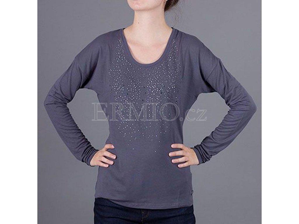 Stylové dámské tričko s dlouhým rukávem Armani