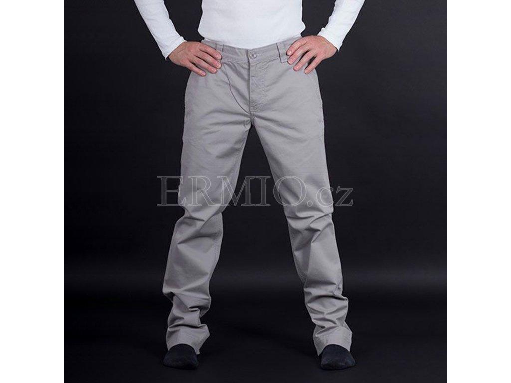 Elegantní šedé pánské kalhoty Armani Jeans