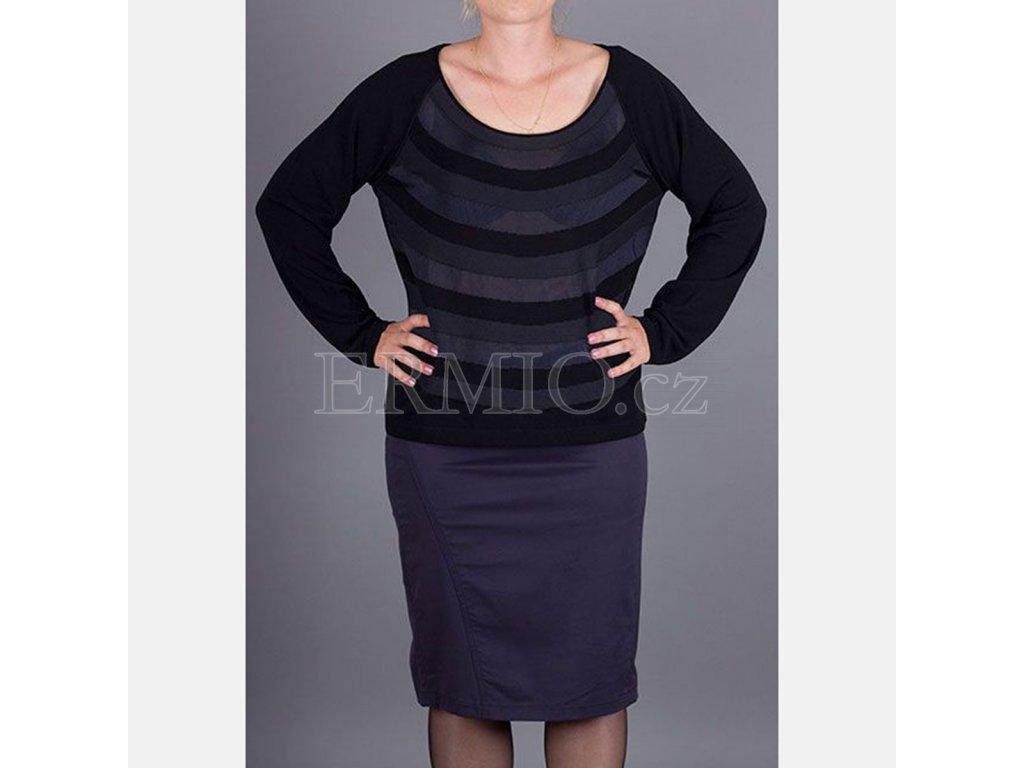 Luxusní dámský černý svetr Armani