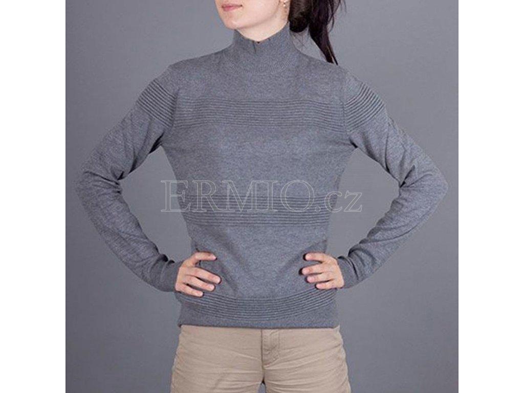 Dámský značkový šedý svetr Armani