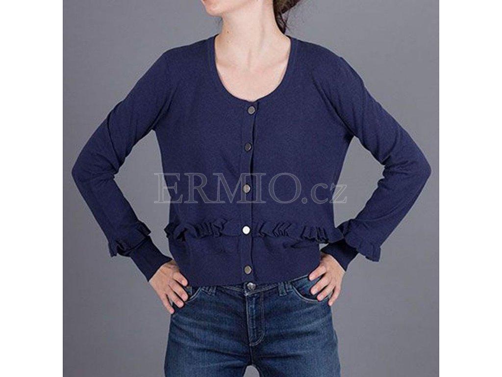Tmavě modrý dámský značkový svetr Armani