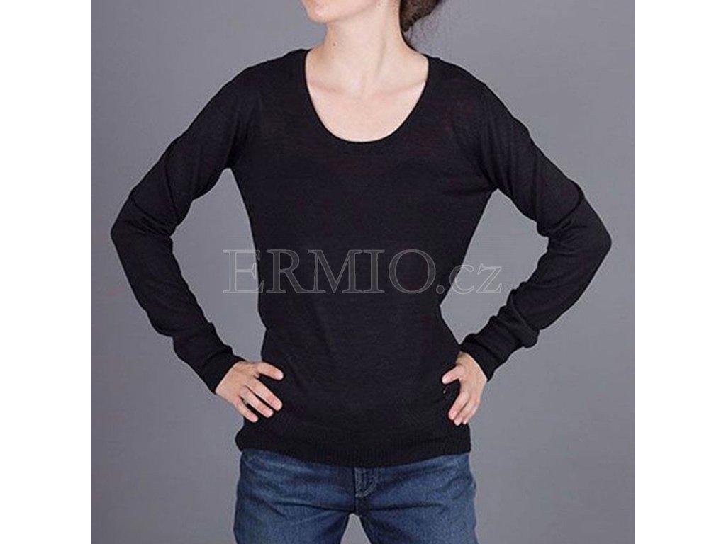 Značkový dámský černý svetr Armani