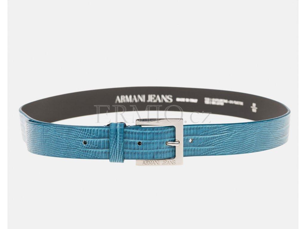 Nádherný dámský tyrkysový pásek Armani