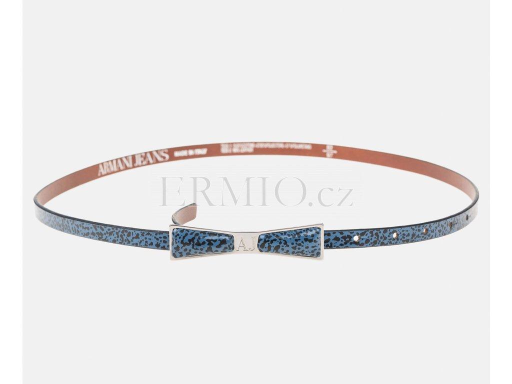 Půvabný modrý dámský pásek Armani