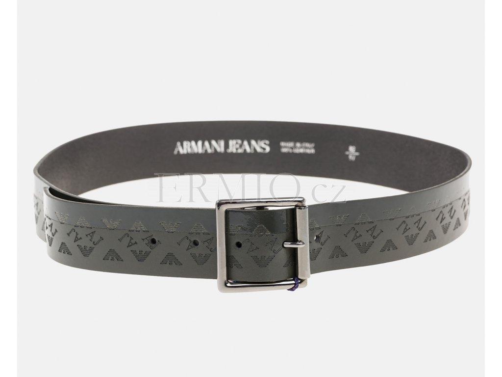 Značkový zelený pásek Armani Jeans