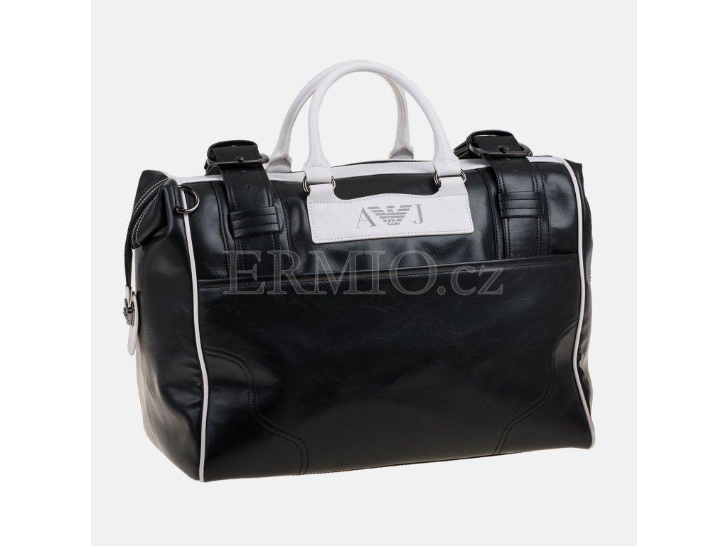 Velká taška Armani Jeans černobílá