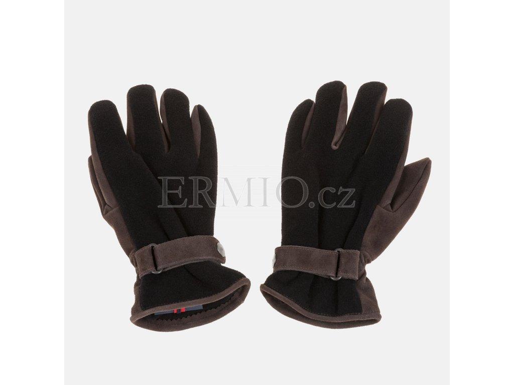 Pánské luxusní rukavice Armani hnědé