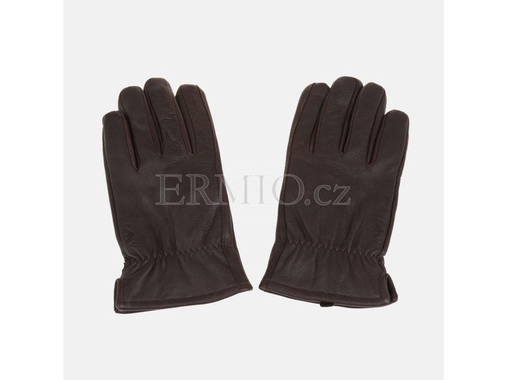 Luxusní pánské kožené rukavice Armani