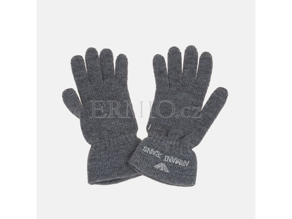 Dámské pletené rukavice Armani šedé