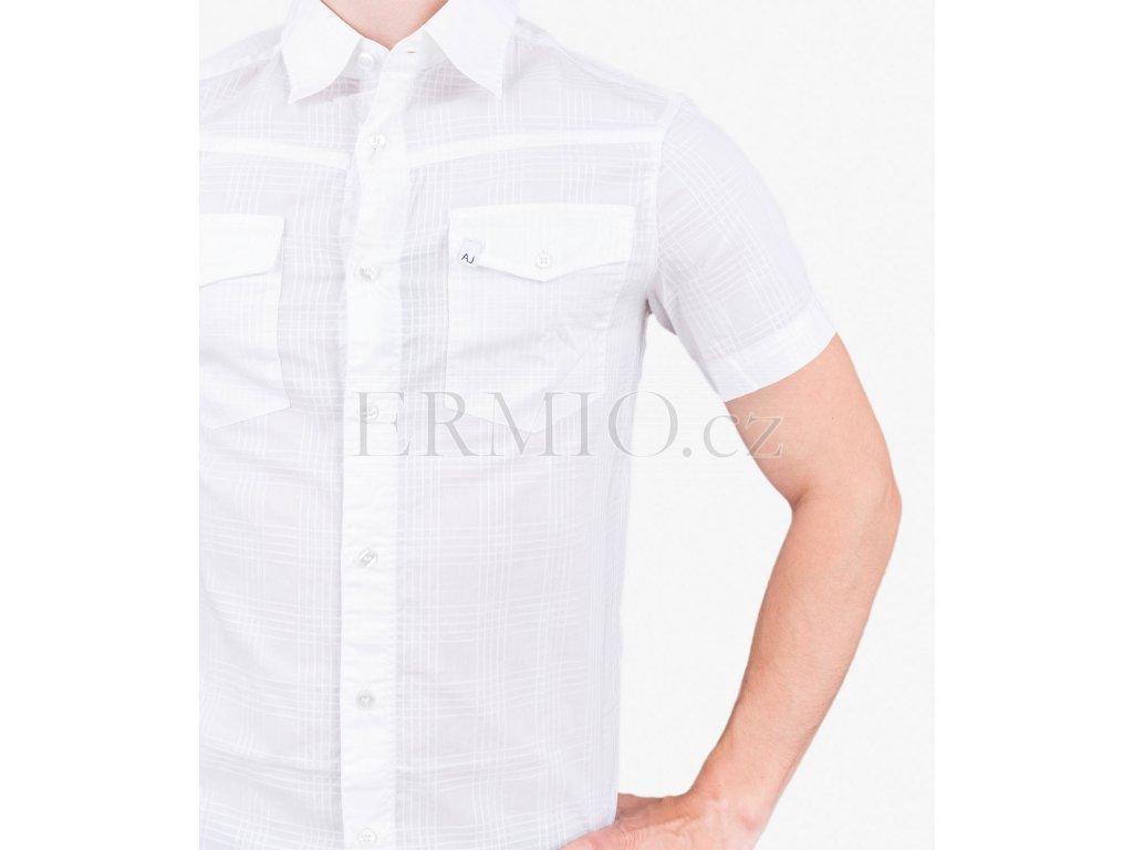 36e55515a72 Luxusní Letní pánská košile Armani bílá v e-shopu   Ermio Fashion
