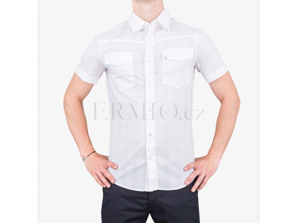 Letní pánská košile Armani bílá