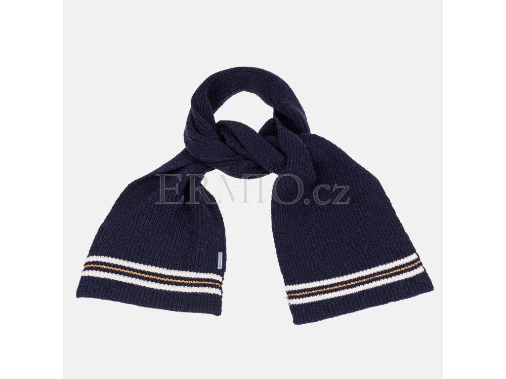 Pánská modrá pletená šála Armani