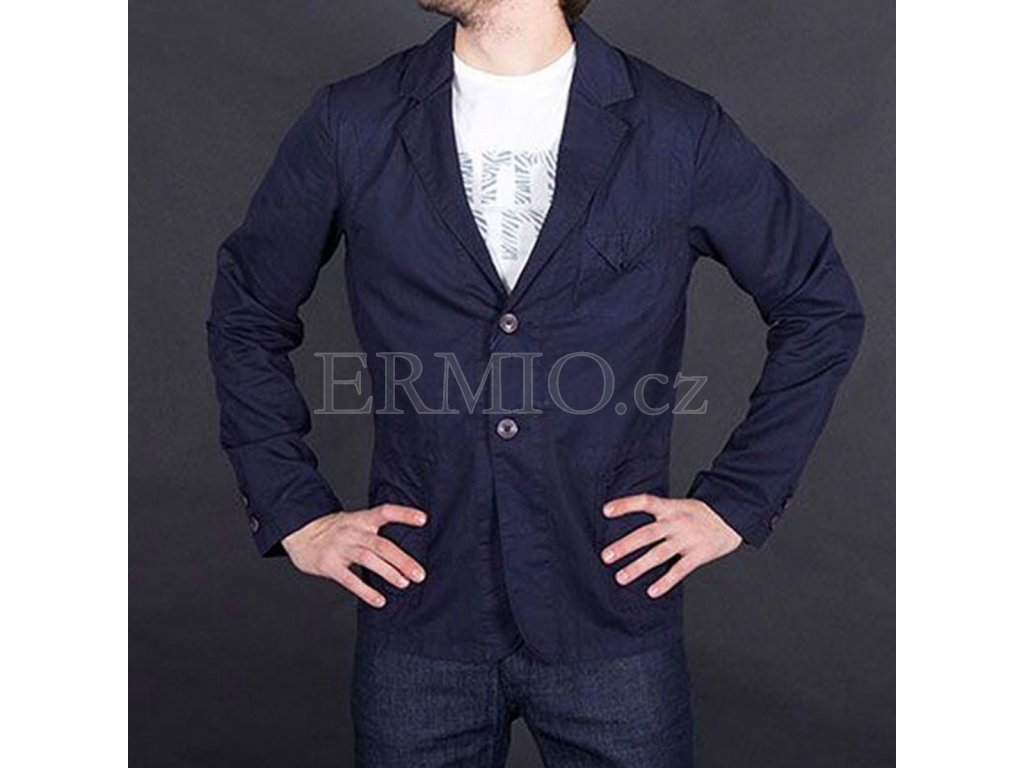 Stylové pánské sako Armani Jeans modré