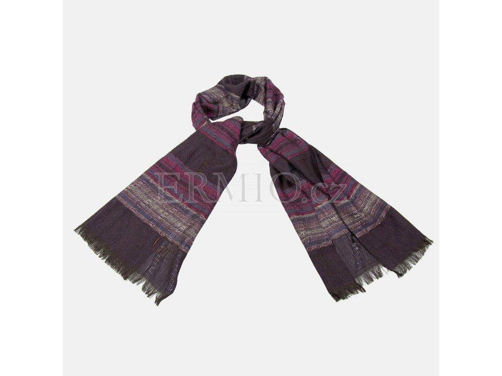 Luxusní fialová šála GF Ferré