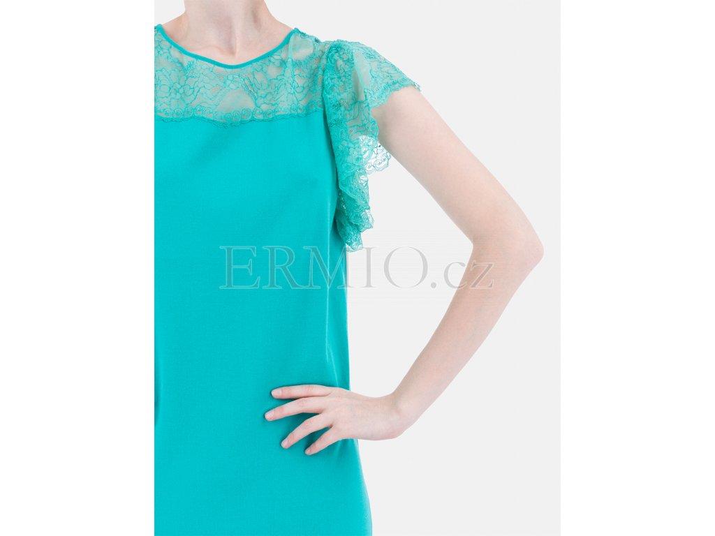 0790eaf602a1 Luxusní Krásné úpletové šaty Blumarine tyrkysové v e-shopu   Ermio ...