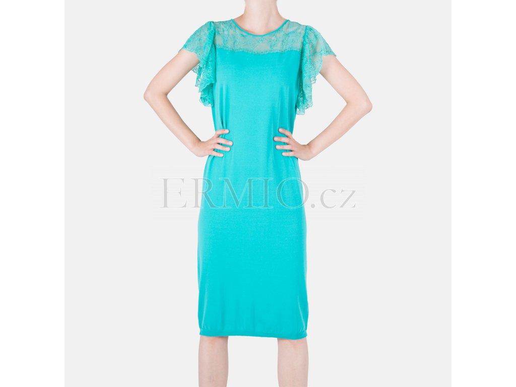 Krásné úpletové šaty Blumarine tyrkysové