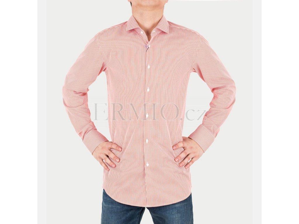 Červená pánská košile Hugo Boss
