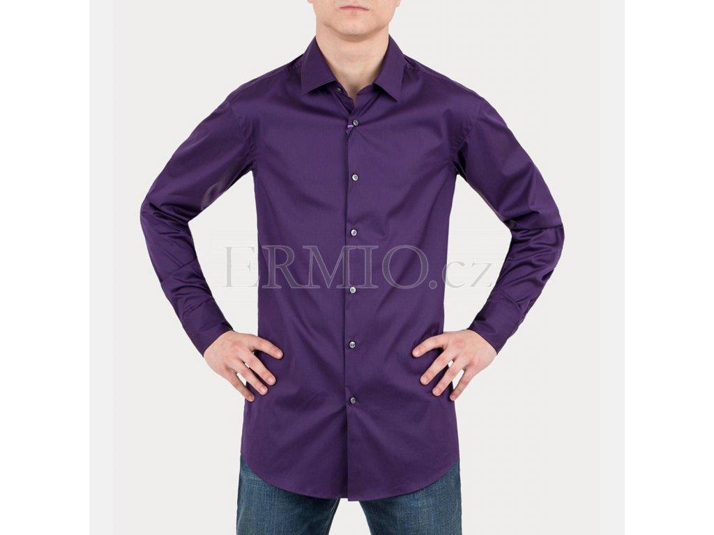 Švestková pánská košile Hugo Boss