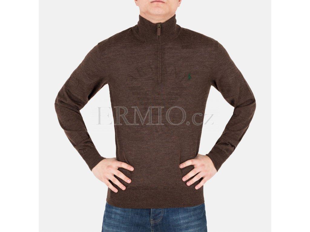 Pánský svetr Ralph Lauren hnědý