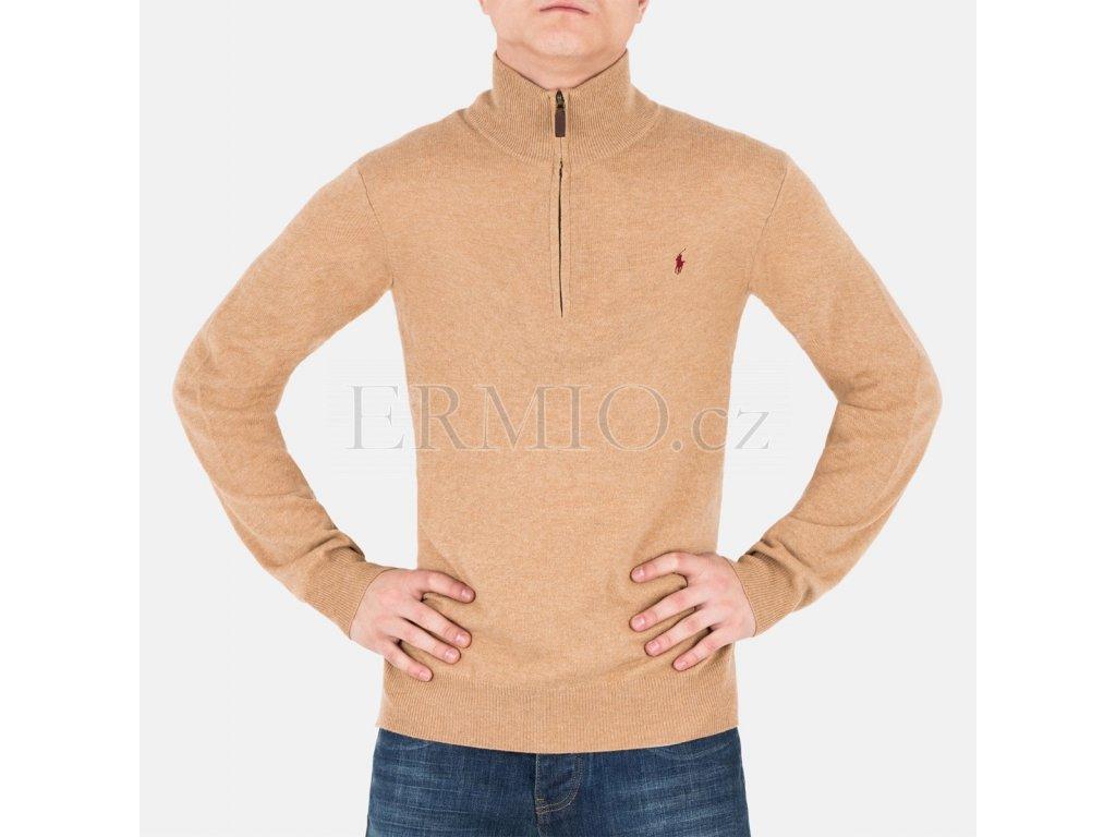 Pánský béžový pulovr Ralph Lauren