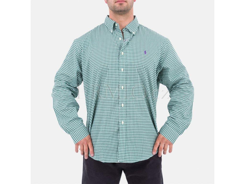 Zelená pánská košile Ralph Lauren
