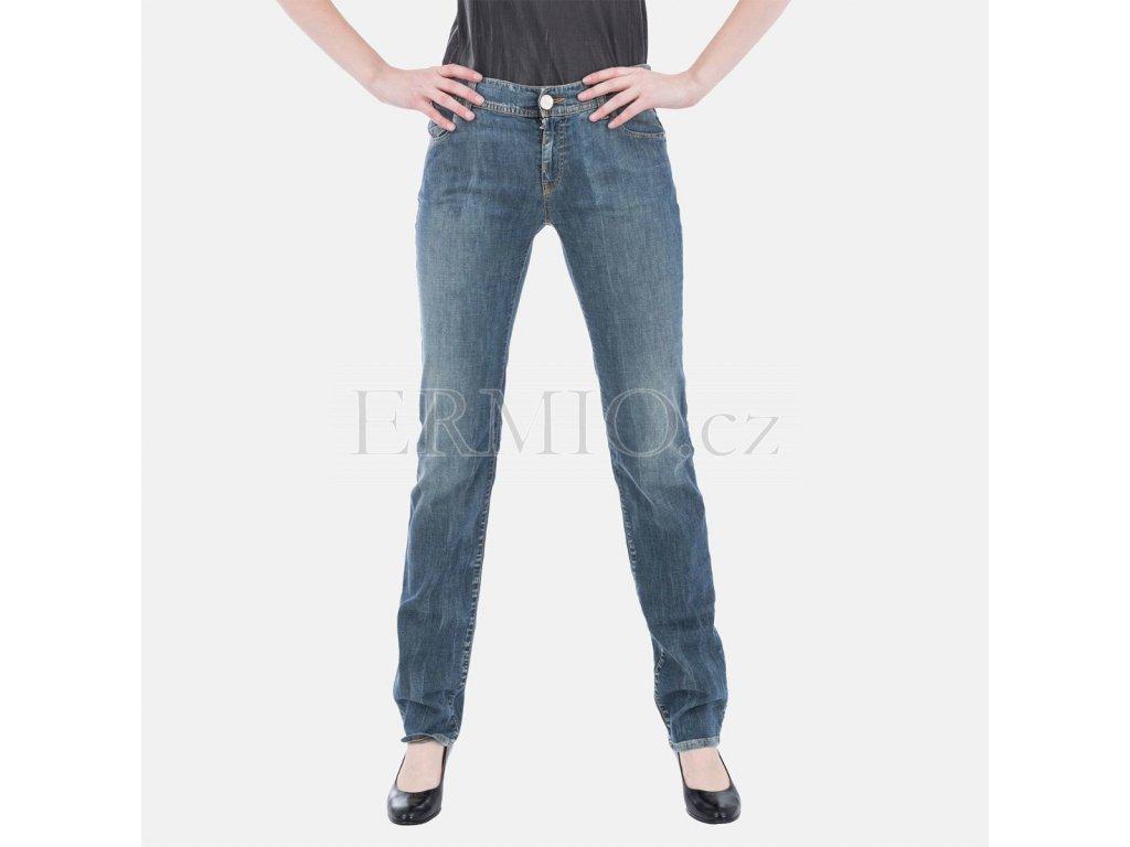 Půvabné dámské džiny Armani Jeans modré