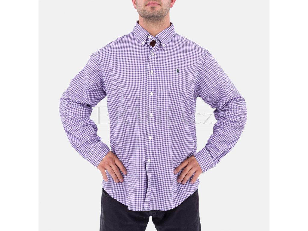 Fialová pánská košile Ralph Lauren