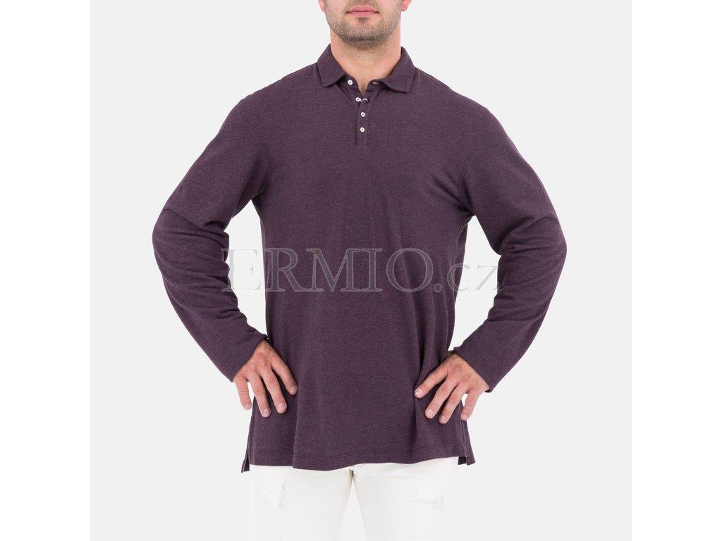 Pánská polo košile s dlouhým rukávem Brunello Cucinelli