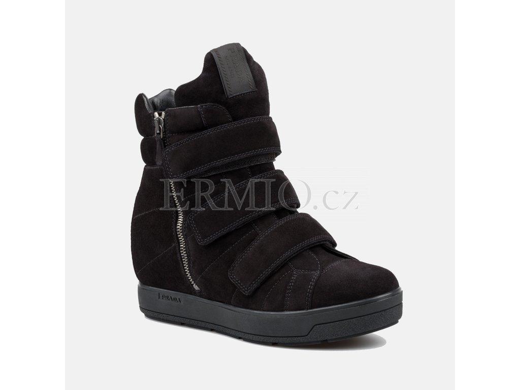 Dámské černé boty PRADA