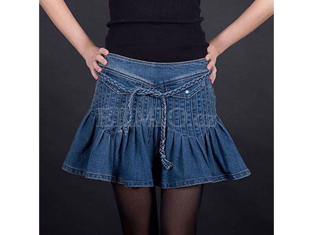 Džínová sukně Armani modrá