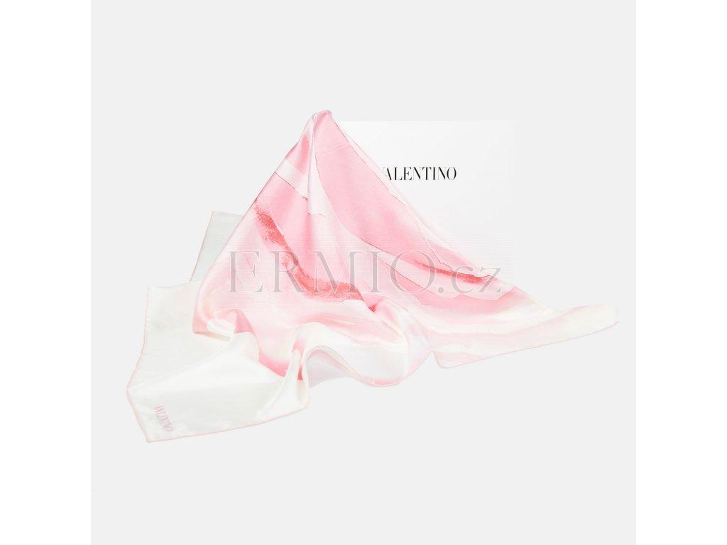 Hedvábný šátek Valentino růžový