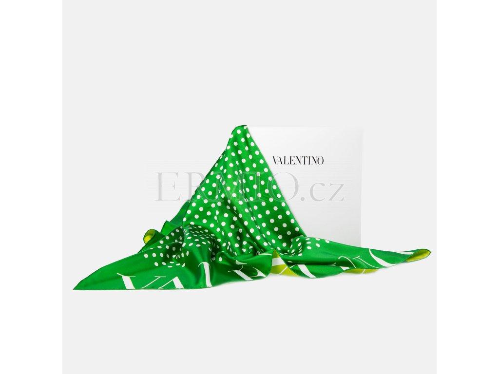 Krásný zelený šátek Valentino