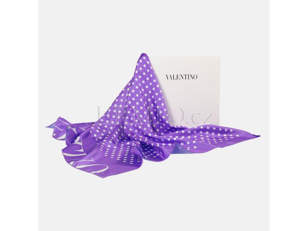 Krásný fialový šátek Valentino