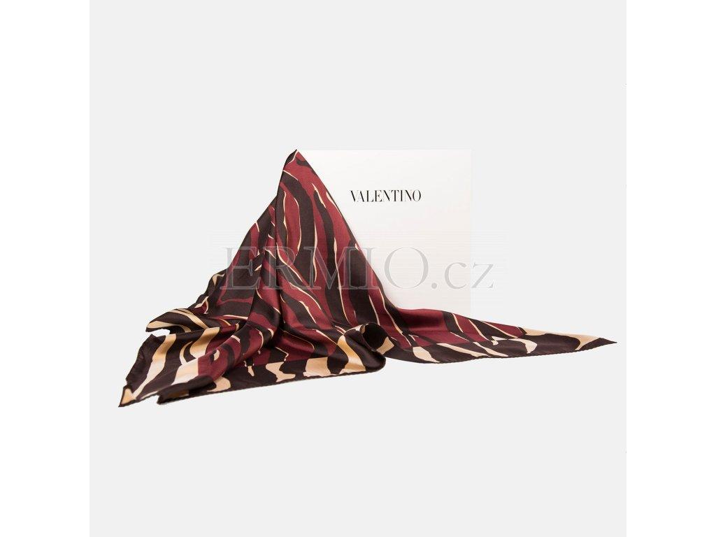 Elegantní vzorovaný šátek Valentino