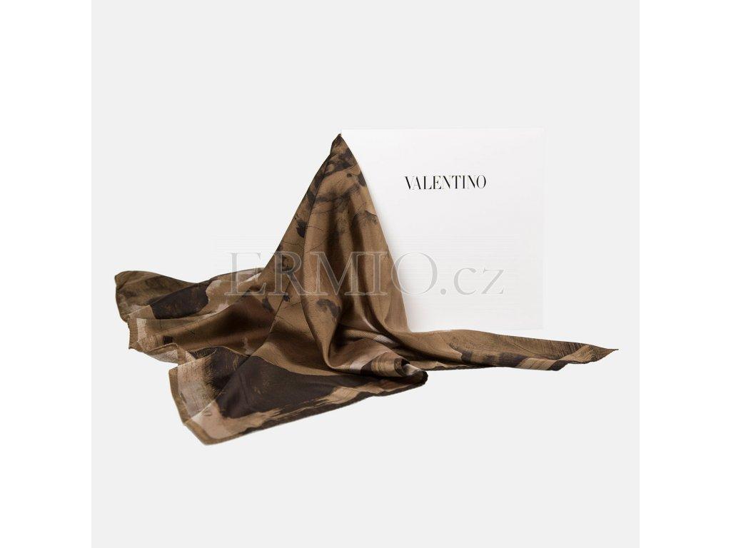 Elegantní hnědý šátek Valentino