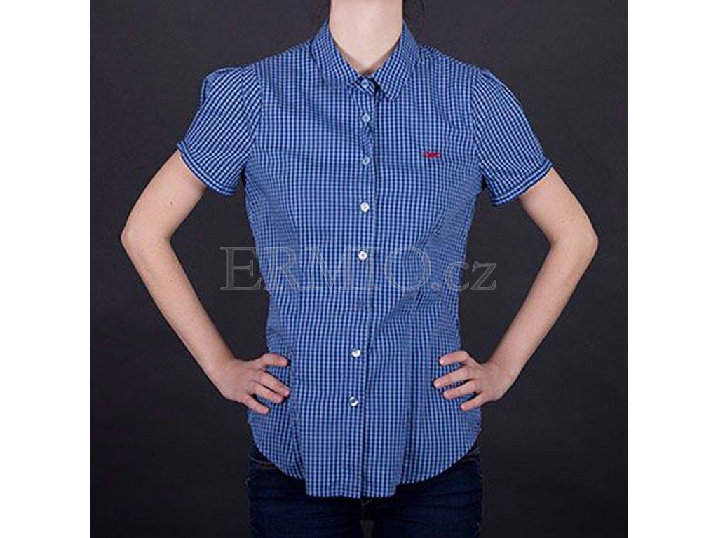 Kostkovaná košile Armani modrá