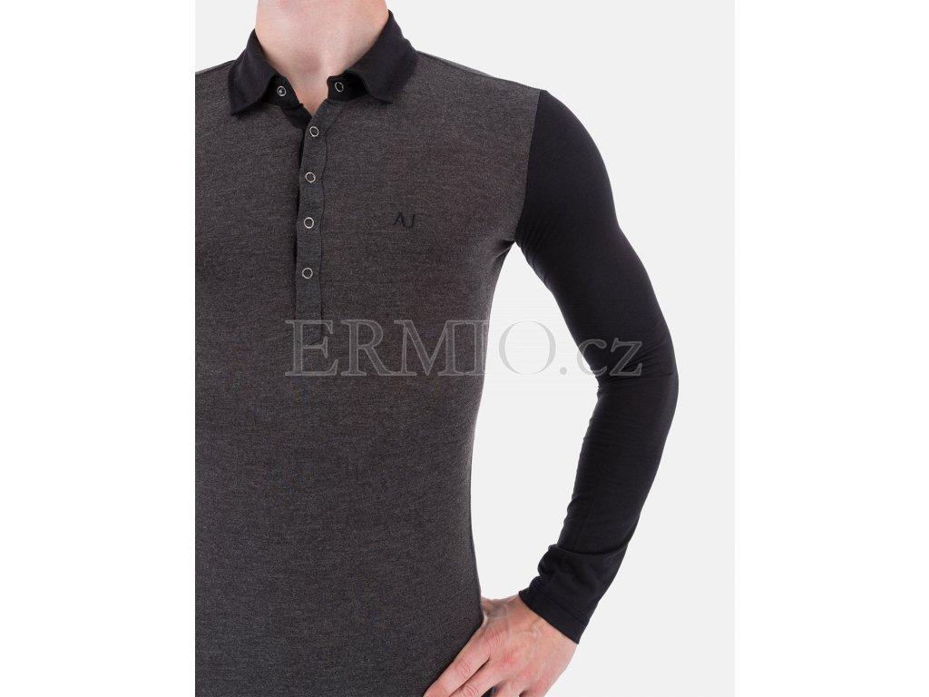 818bb533cae Luxusní Luxusní pánské šedé tričko Armani Jeans v e-shopu   Ermio ...