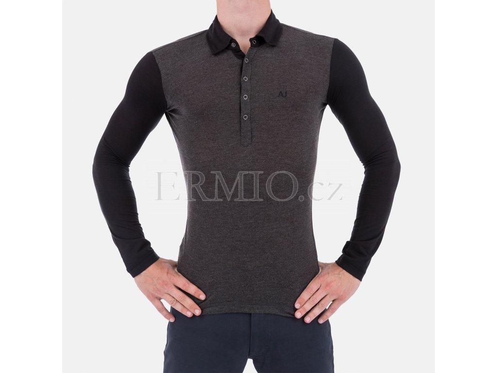 Luxusní pánské šedé tričko Armani Jeans