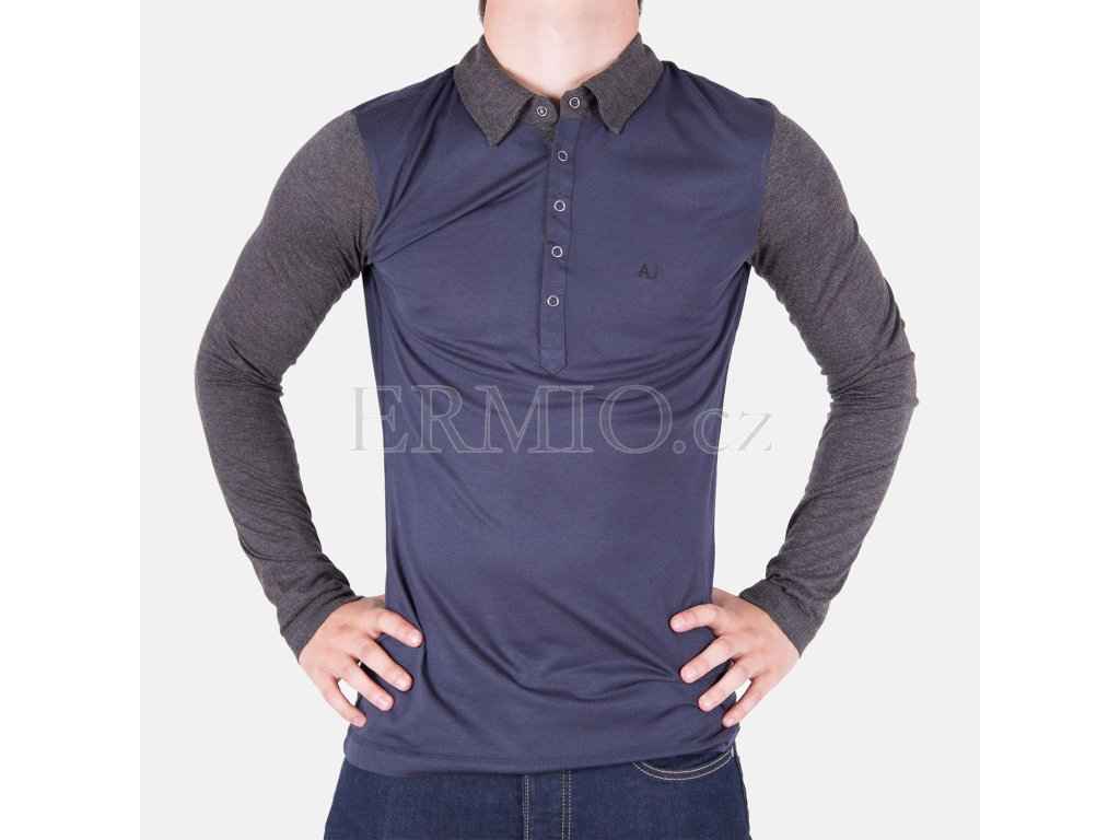 Luxusní pánské modré tričko Armani Jeans