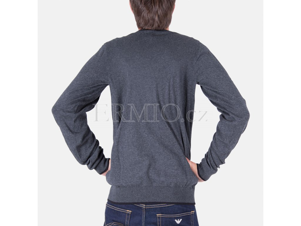 Značkový pánský šedý svetr Armani Jeans · Značkový pánský šedý svetr Armani  Jeans ... 76dce02950