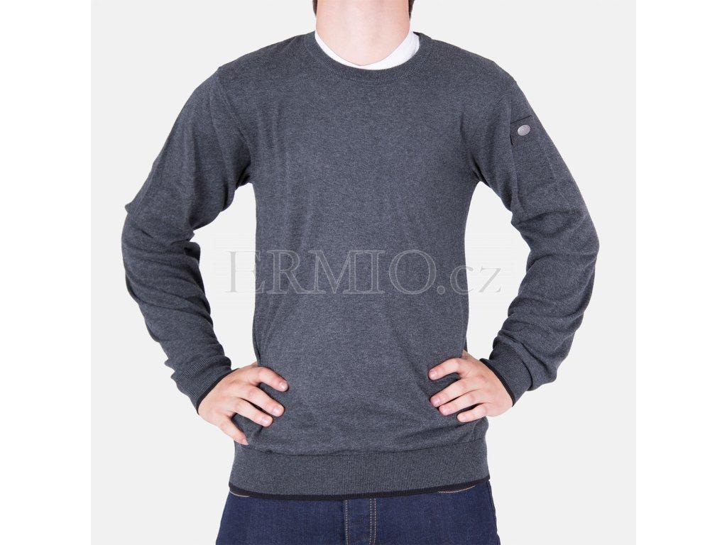 Značkový pánský šedý svetr Armani Jeans