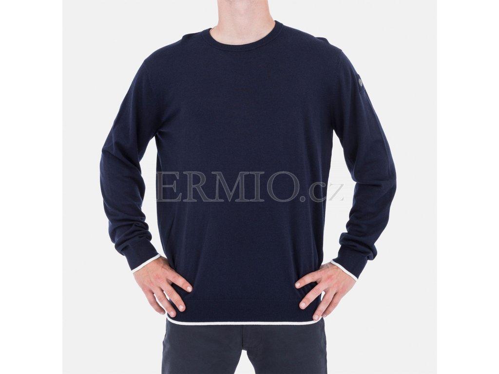 Luxusní Elegantní pánský modrý svetr Armani Jeans v e-shopu   Ermio ... 905c230bf0