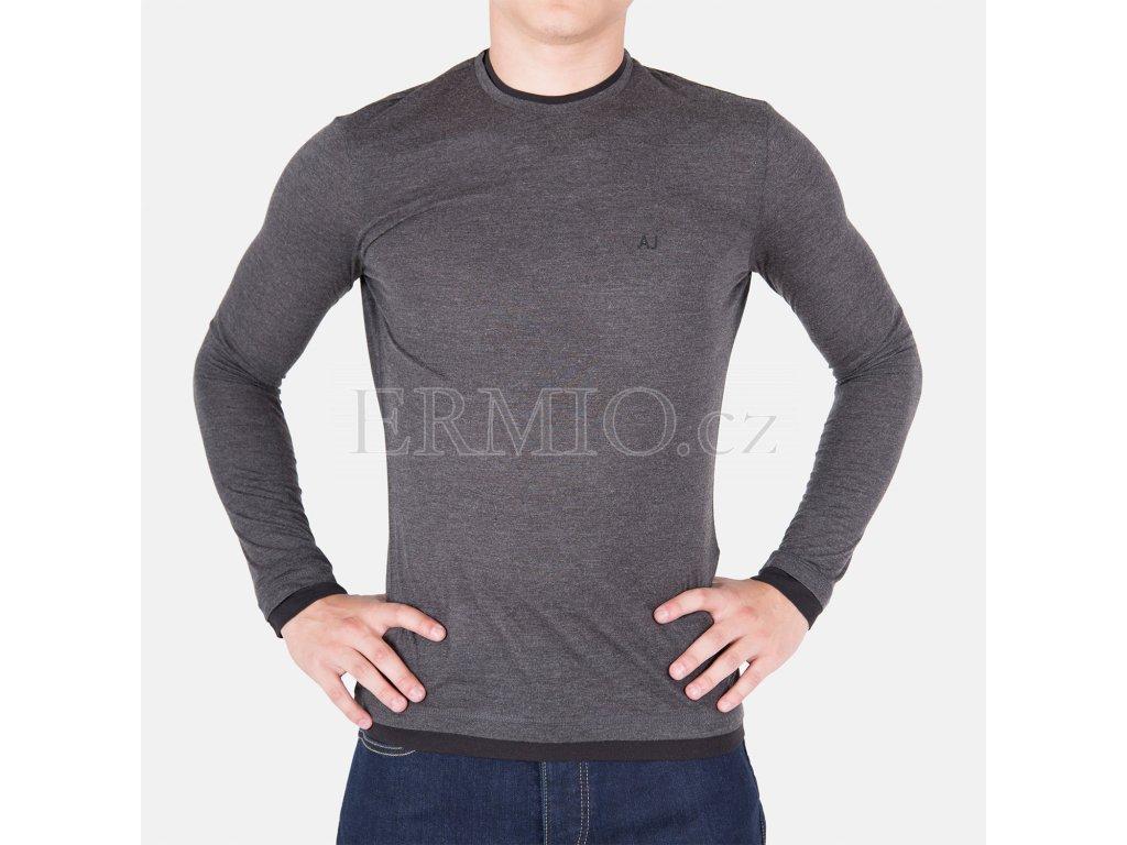 Krásné šedé tričko Armani Jeans